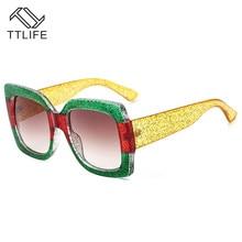 TTLIFE 2019 New Oversized Square Sunglasses Women Luxury Christmas gifts Vintage Eyewear Fashion Big Frame Sun Glasses YJHH015