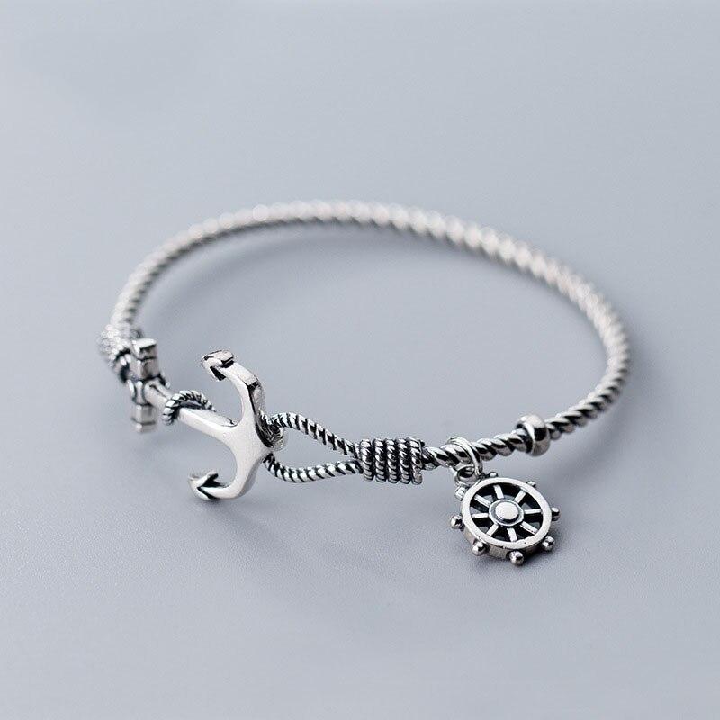 Bracelet torsadé en argent Sterling 925