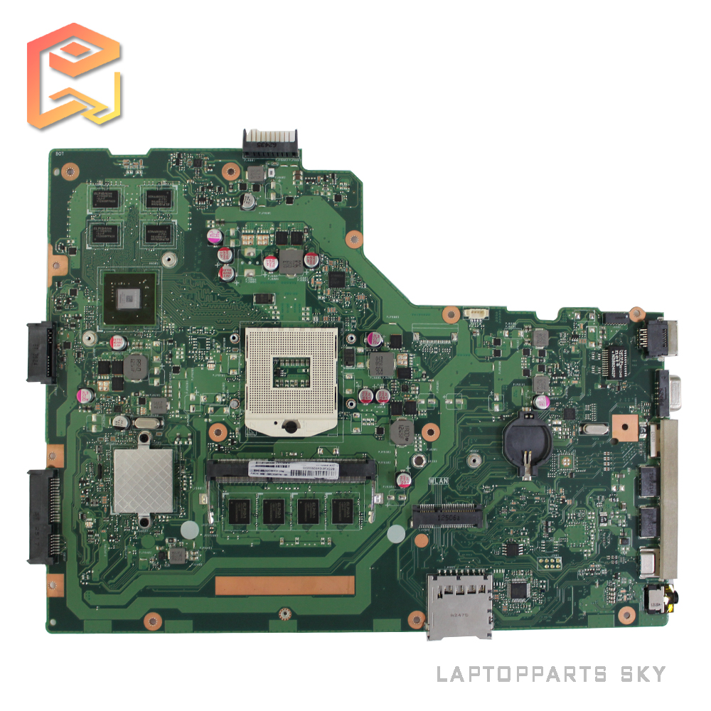 For ASUS X75VD REV2.0 laptop motherboard GT610 2G RAM 4G Memory On Board HM76 DDR3 mainboard 100% tested  original notebook motherboard x54c k54c for asus rev 2 1 system pc mainboard with ram on board