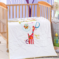 Hot Sale 2016 New High Quality Cotton Baby Cot Quilt/Comforter/Duvet Cartoon Animal Embroided Children Crib Bedding 130*110cm