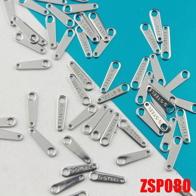"""Односторонняя """"S. STEEL"""" Нержавеющая сталь вкладка бирки для ожерелья этикетки браслет кулон ювелирные изделия часть ZSP080"""
