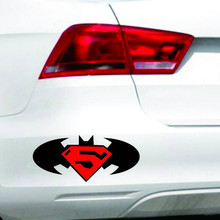 Etie Car Stickers Accessories Bat Superman Diamond Logo Universal Decal Decoration for Audi Toyota Peugeot Hyundai Mazda Honda(China)