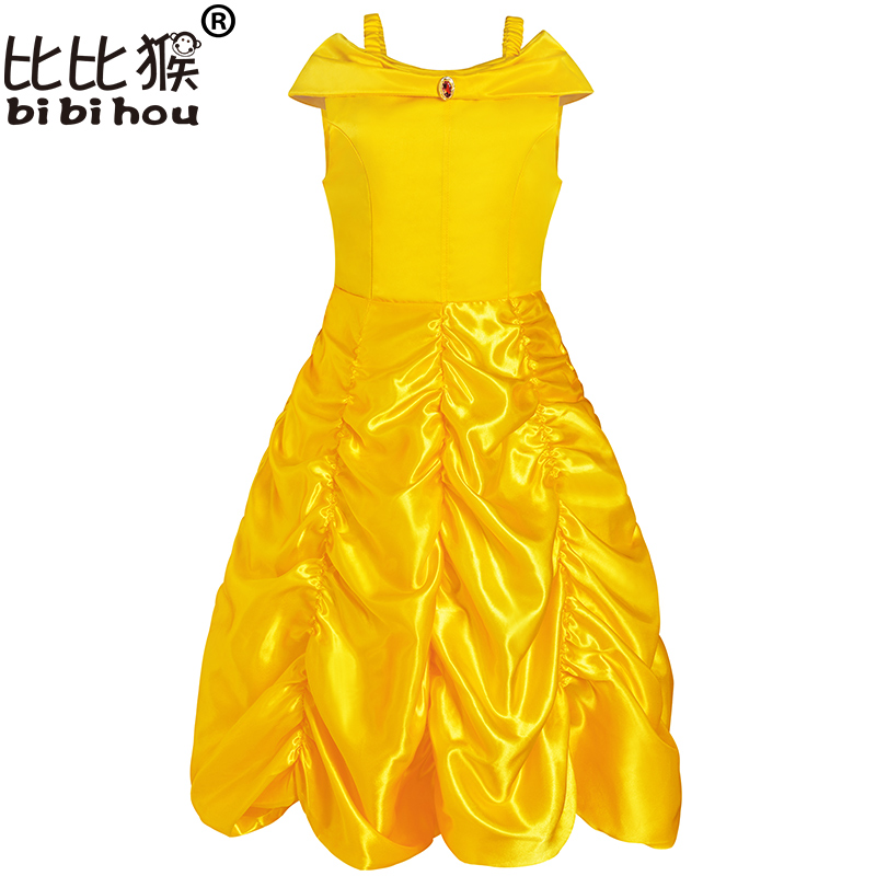 New 2017 Kids Girl Beauty and beast cosplay carnival costume kids belle princess dress for Christmas Halloween Dress For Girls new 2016 kids girl beauty and beast cosplay carnival costume kids belle princess dress for christmas halloween fantasia infantil