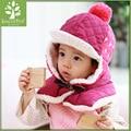 2 piece/ set hat scarf gloves baby winter cap rabbit knit beanie bonnet warm hats for children neck warmer photography props