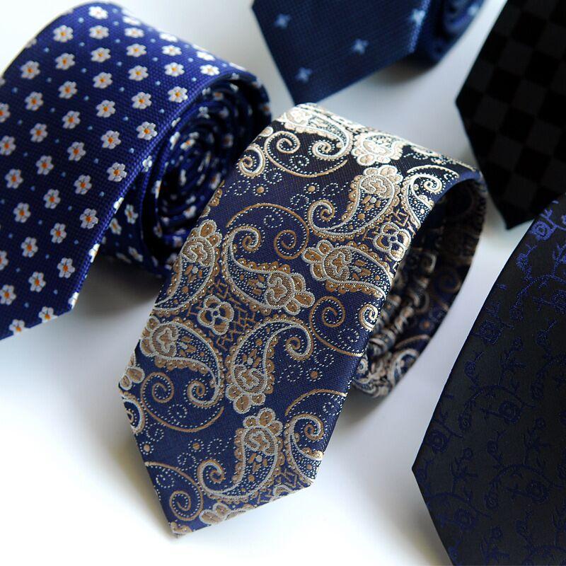 Navy Blue Shark Jacquard Outstanding Sharp Skinny Narrow Necktie Tie