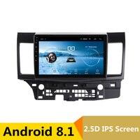 10 2.5D IPS Android 8,1 автомобильный DVD мультимедийный плеер gps для Mitsubishi Lancer 2008 2016 2009 аудио Автомагнитола стерео навигация