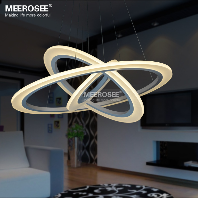 Modern New Lamp Chandelier Led Lights Acrylic White Light Frame