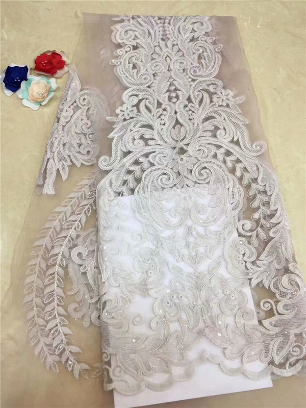 African Lace Fabric yellow Embroidered Nigerian Laces Fabric Bridal High Quality French Tulle Lace Fabric For