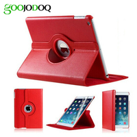 Free Shipping 360 Rotation PU Leather Protective Case For Ipad 2 3 4 Mini Magnetic Smart