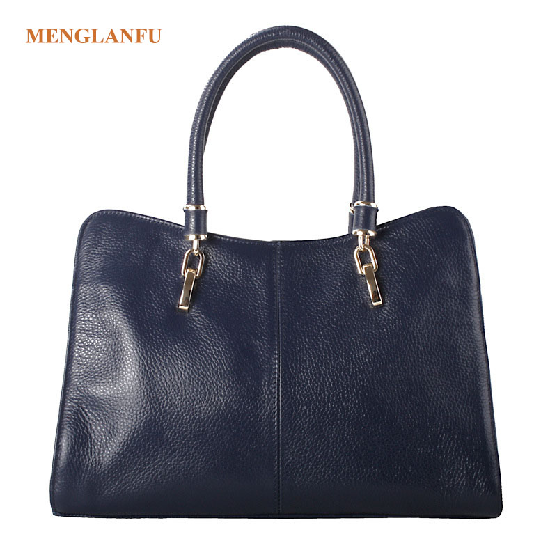 Genuine Leather Handbag Shoulder bag Women Solid Totes Famous Brand Ladies Crossbody bags Elegant Large Tote bag for Girls Black spring new elegant leather women handbag smooth skin lady shoulder bags female small casual totes cover zipper crossbody packs