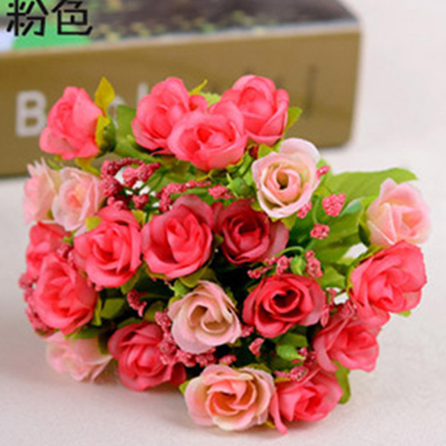 Fleurs Artificielles Pas Cher Rose Plantes D Interieur Decoration De