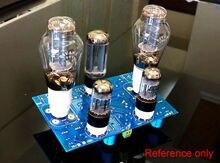 6SN7 300B Stereo Vacuum Tube Amp Single ended Hi Fi Power Amplifier DIY Kit 8W+8w for Preamp