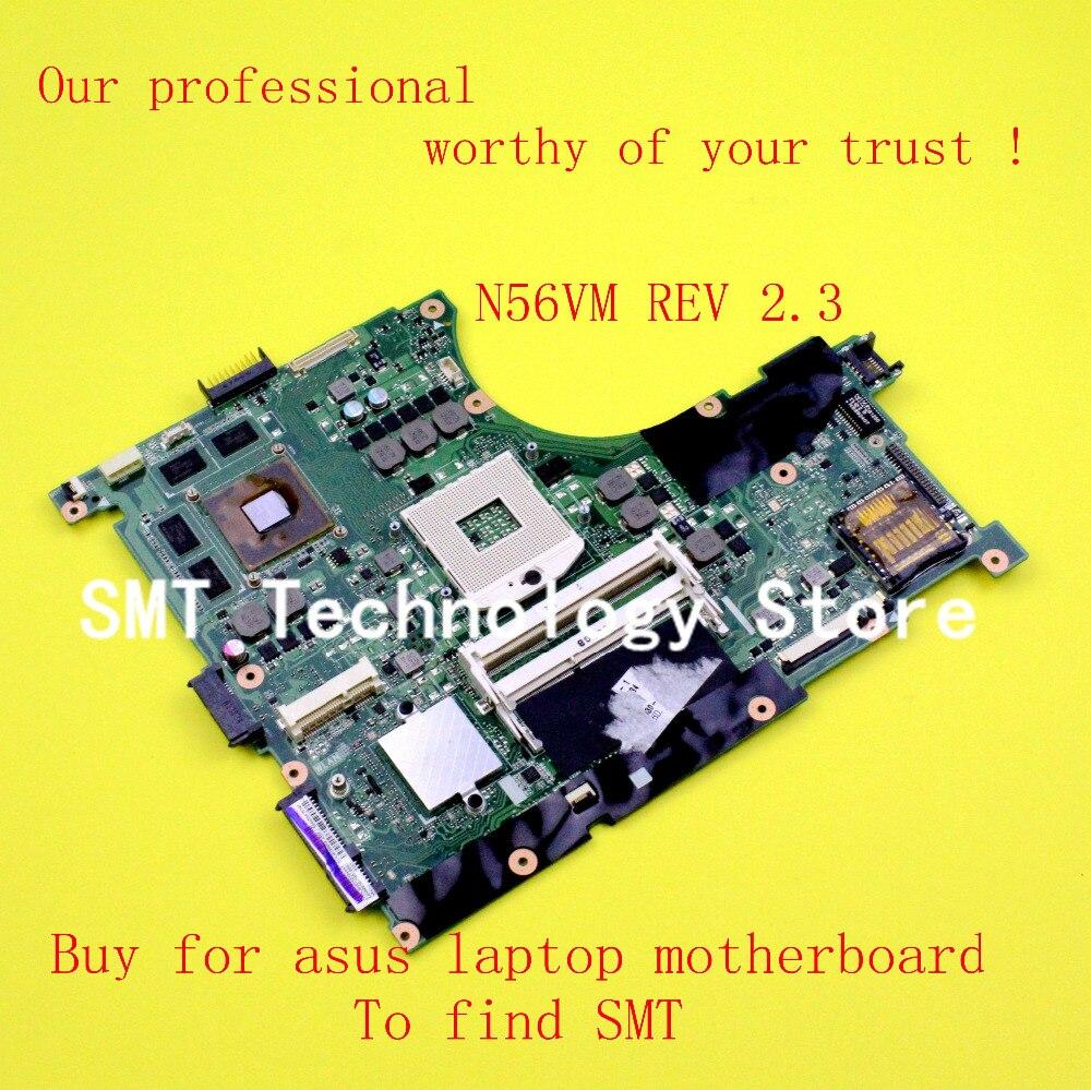N56V Laptop motherboard N56VM REV2.3 MAINBOARD GT630M HM76 chipest DDR3 test ok