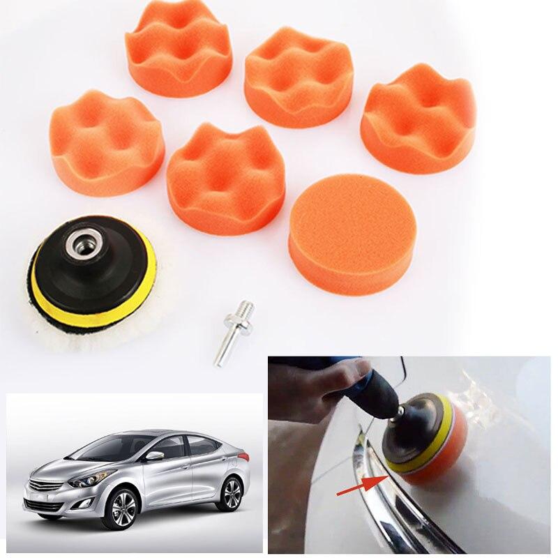 """Vehemo """" Оранжевый Автомобильная полировальная губка подушка для полировки автомобиля Инструменты Авто Воском Губка для мытья тканевые салфетки Прочный обслуживания"""