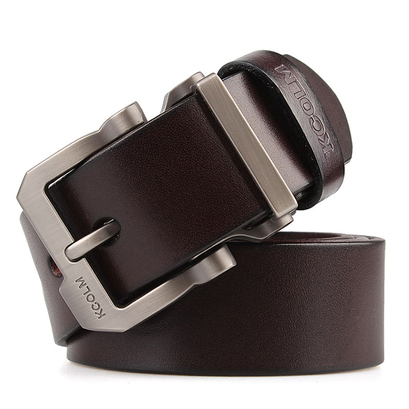 cowskin leather designer Quality pin buckle Jeans   belt   tmallfs men famous Brand luxury strap big plus long 130cm 140 150 160cm