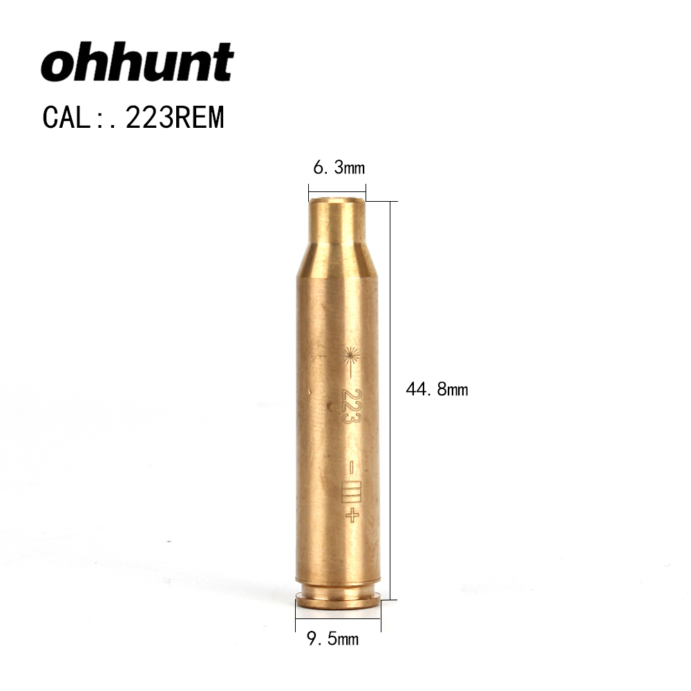 ohhunt High Quality CAL.223 Cartridge Red Laser Bore Sighter Boresighter Sighting Sight Boresight Colimador For Hunting Rifle