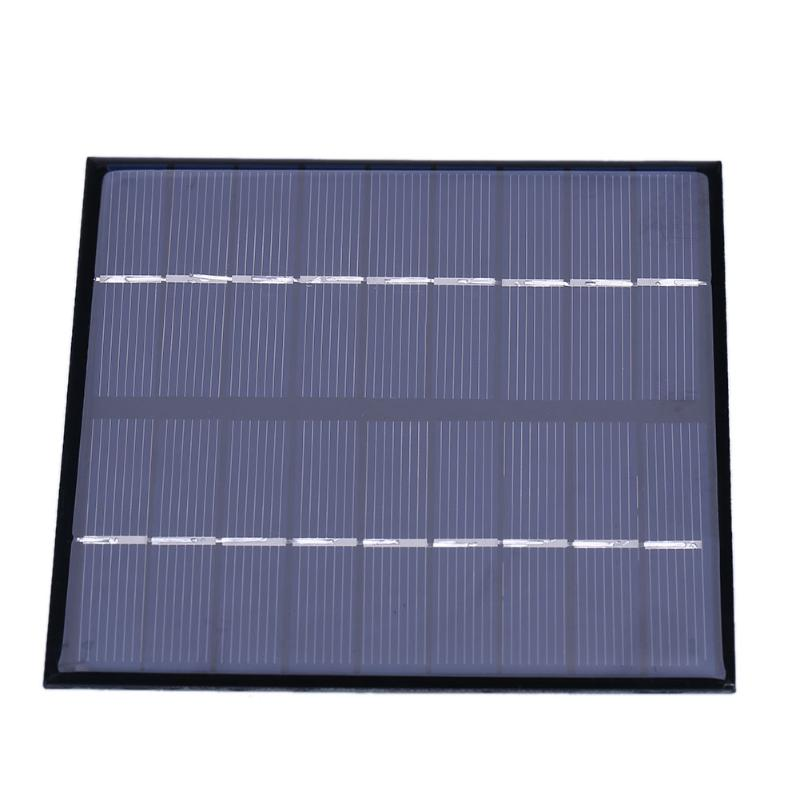 Alloyseed 2W 9V Solar Panel Polycrystalline Silicone DIY Sunpower Battery Power Supply Charger Board for Home Yard Lighting