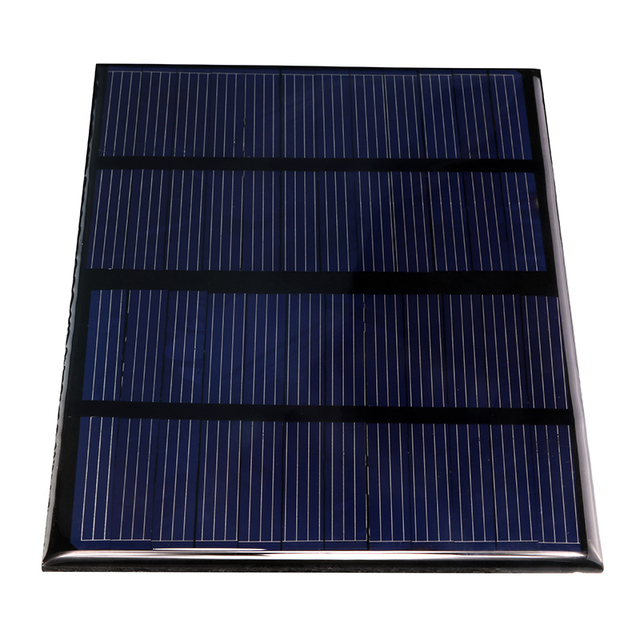 Universal 12V 1.5W Solar Panel Standard Epoxy Polycrystalline Silicon DIY Battery Power Charge Module 115x85mm Mini Solar Cell