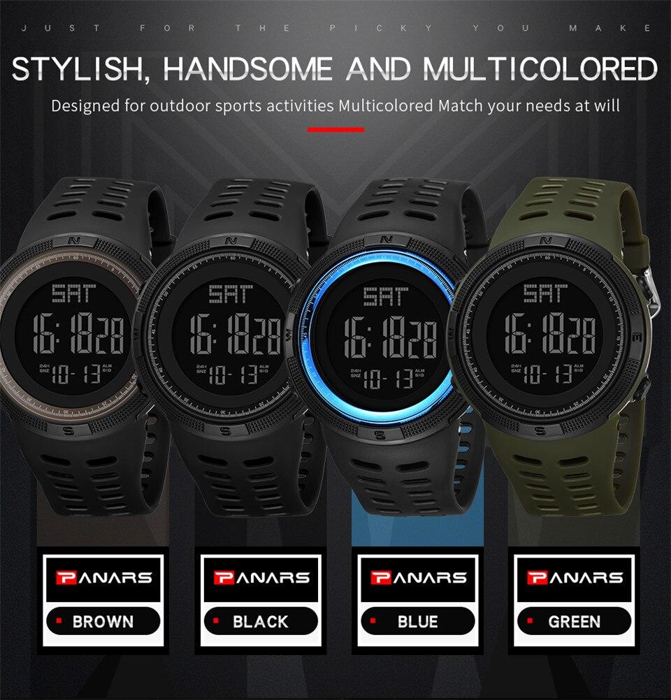 Sports Electronic Watches Men Countdown Double Time Watch Alarm Chrono Digital Wristwatches 50M Waterproof Outdoor Running Watch (3)