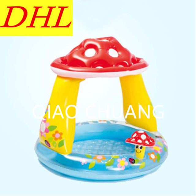 Inflatable Sun-shade Swimming Pool Play With Water Bath Mushrooms Round Paddling Pool PVC Thicken Comfortable Home Use Pool G968