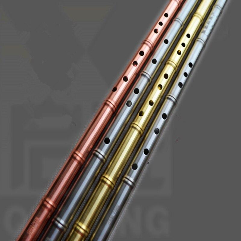 Flûte en métal Xiao pas dizi laiton ou cuivre rouge 80 cm G/F clé Xiao flûte transversale Flautas en métal professionnel arme d'auto-défense