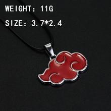 Anime Cosplay Naruto Akatsuki organization red cloud sign metal pendant necklace