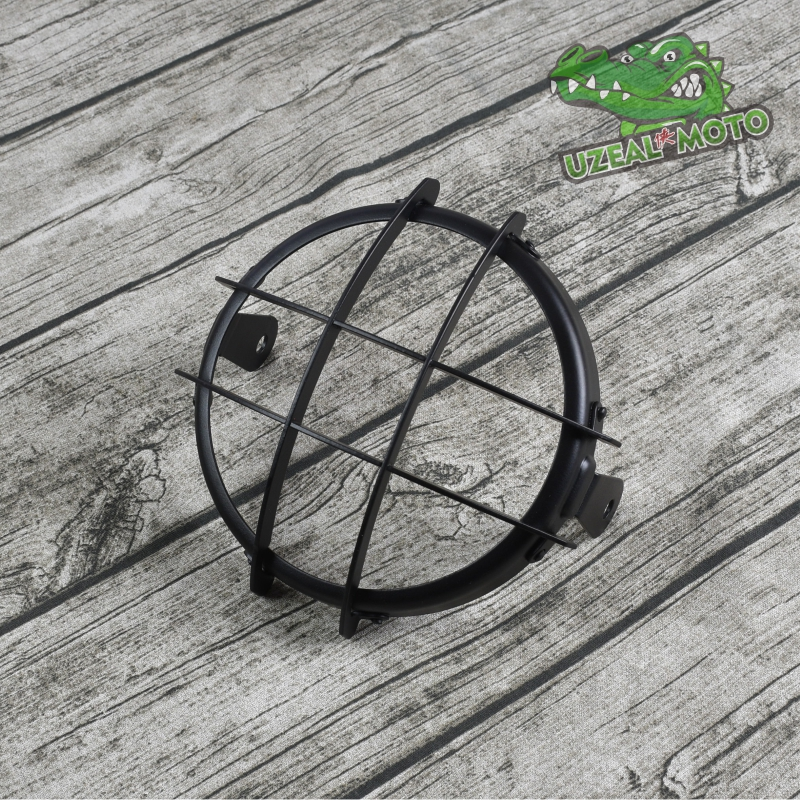 5.75 Inch 6.5 Inch GN125 Retro Scrambler Motorcycle Modified 5inch Headlight Protection Cover Light Grid Grille Headlight Guard