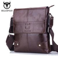 BULL CAPTAIN 2017 Men Briefcase Bag Genuine Leather Man Crossbody Shoulder Bag Small Business Bags Male