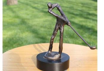 Abstract golf sports series bronze crafts home decoration business presents a sculpture of bronze sculpture Statue Brass Bronze