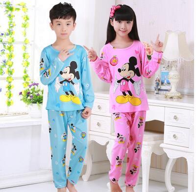 68ff375000 Children Pajamas New Sale Autumn Winter Baby Sleepwears Suits Lovely Girls  Pyjamas boys Cartoon Pijamas Kids Clothing
