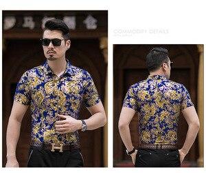 Image 5 - Hawaiian Casual 80% ผ้าไหมเสื้อผู้ชายแขนสั้นทั้งสองด้านพิมพ์มังกรจีนNationดอกไม้ 2020 ชายหาดฤดูร้อนเสื้อผ้า