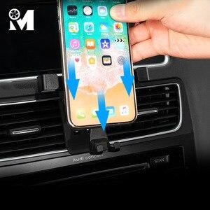 Image 2 - לרכב טלפון הר ABS GPS נייד מחזיק Vent מגנט נייד Stand עבור אאודי A3 8V A4 B9 A5 A6 c7 Q3 Q5 ב אביזרי פנים