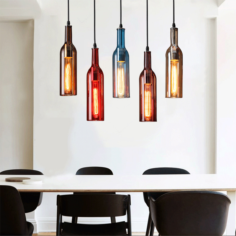 Us 29 47 15 Off Multi Color Modern Led Pendant Lights Lamp Lighting Fixtures Industrieel Hanging Lamp Glass Shade Bar Kitchen E27 Socket Ac 220v In