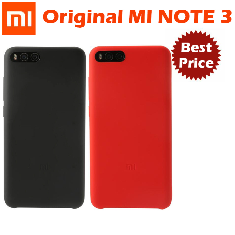 Original xiaomi mi note 3 case cover xiaomi note3 back cover silicone edge fabric case genuine xiaomi brand soft strong shell-in Fitted Cases from Cellphones & Telecommunications