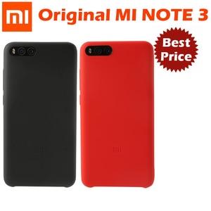 Image 1 - Original xiaomi mi note 3 case cover xiaomi note3 back cover silicone edge fabric case genuine xiaomi brand soft strong shell