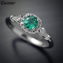 Canner Green Big Crystal Stone Rings For Men Women Luxury Inlaid Stone Rings Wedding Engagement Ring Jewelry Couples Gift engagement rings for women wedding jewelry big crystal stone ring stainless steel jewelry