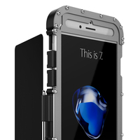 R Just Steel Metal Shockproof Flip Case For iPhone 8 7plus Armor King Phone Back Cover Case for iPhone 6 6Splus 7 8Plus R JUST