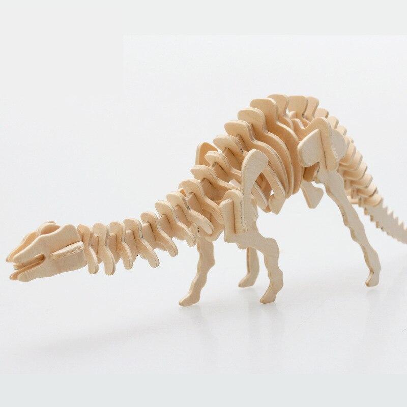 DIY деревянные головоломки Игрушечные лошадки 3D стерео динозавров модель головоломки тираннозавр рекс модели для подарка