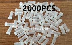 Sc lc fc st conector tampões de poeira 2000 pces cabo de remendo de fibra tampas de poeira adaptador de conector