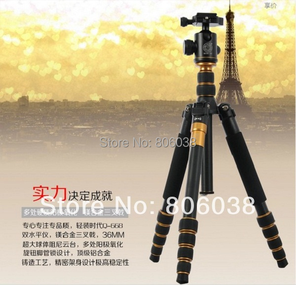 Q668 Professional  Aluminum Alloy Portable Traveling Tripod Monopod+ Ball Head  for SLR Camera Max Load 8Kg new professional aluminum alloy yunteng vct 668 tripod for slr dslr camera maximum load 3kg with carry bag