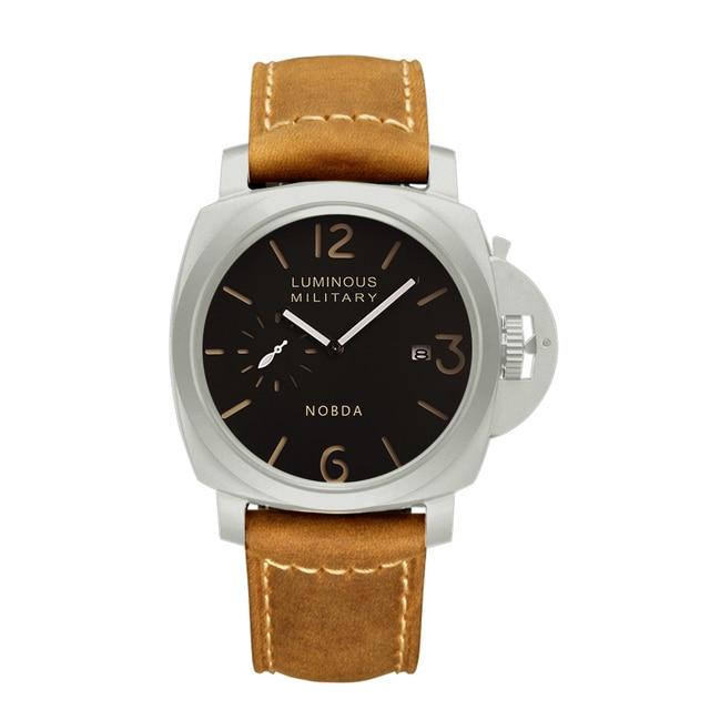 2017 NEW Fashion Casual NOBDA  Brand Men Sports Watches Men's Waterproof Quartz Clock Man Leather Army Military Wrist Watch