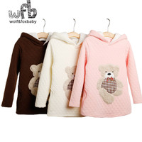 1 7year Long Sleeve Sweatshirt Hoodies Coat Thickened Baby Kids Children Clothing Girls Boys Clothes Infant