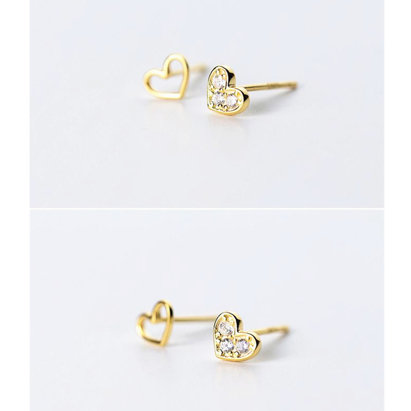 Style; 2019 New Style Sweet Asymmetrical Blue Rhinestone Heart Love Letter Star Stud Earrings For Women Korean Jewelry 925 Sterling Silver Earrings Fashionable In