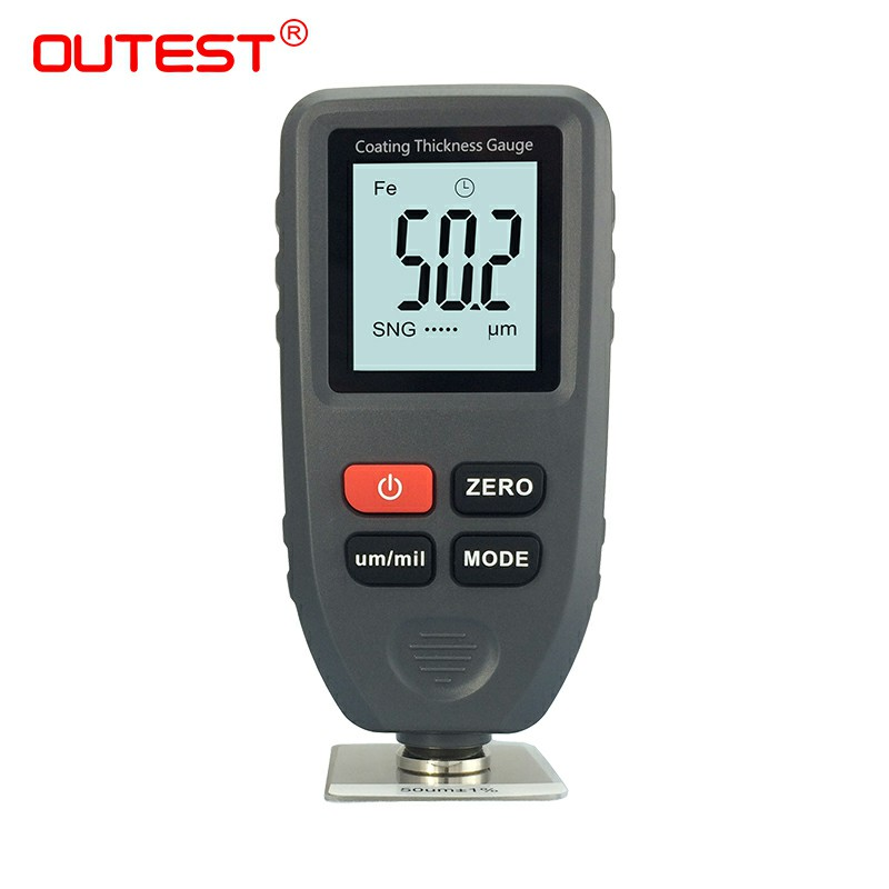 OUTEST Digital Paint Coating Thickness Gauge feeler Tester Car Paint Thickness Meter Metal Thickness Measurement 0~1300um digital paint meter coating thickness gauge 0 1300um paint film metal surface tester car coating paint thickness gauge meter