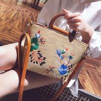 d8a8f3e3f Women Bag 2018 Fashion New Handbag Women S Designer Big Tote Bag Braided  Embroidery Flower Shoulder