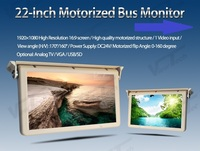 22inch antomatic Ceiling Flip Down Lcd display full Motorized roof mounted bus monitor with HDMI/VGA/USB slot/SD DC12 24V
