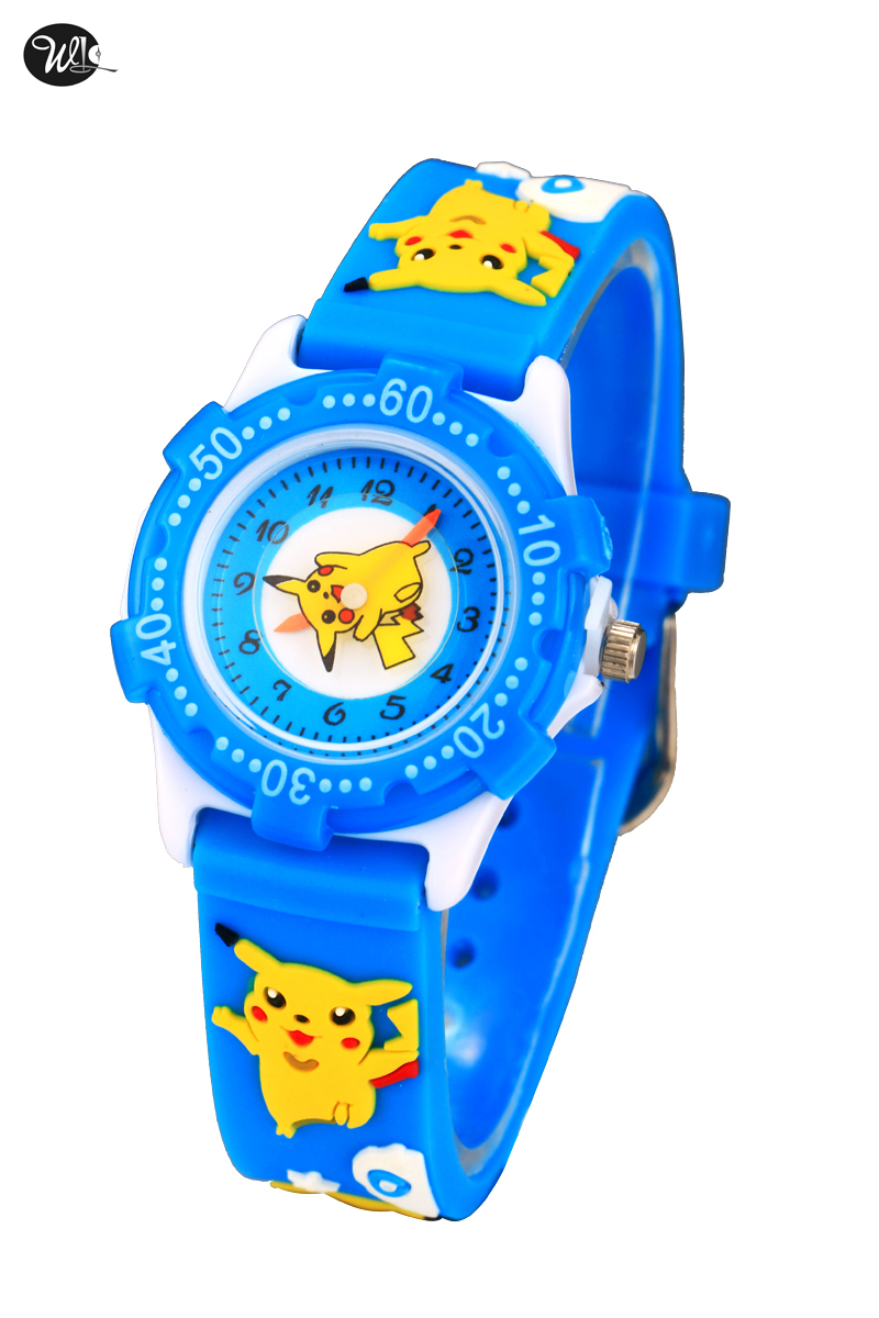 DHL Free Shipping 100pcs/lot Wholesales Hot Sales Cartoon Than Qiaqiu Kids Activity Gifts Watch Quartz Silicone Alloy Wristwatch