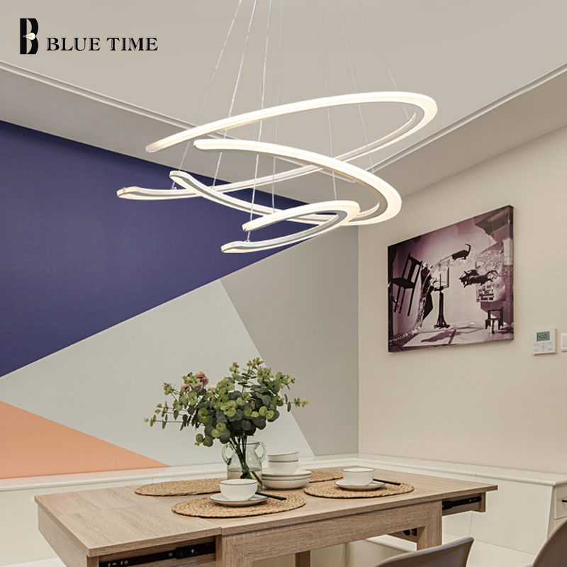 3 rings Acrylic Led Chandelier Lamp For Dining room Living room Luminaire Modern LED Ceiling Chandelier Indoor Lighting Fixtures