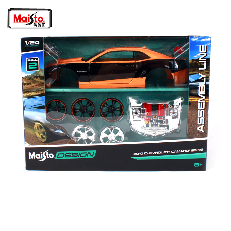 Maisto 1 24 2010 CHEVROLET CAMARO SS RS Assembly DIY Diecast Model Car Toy New In
