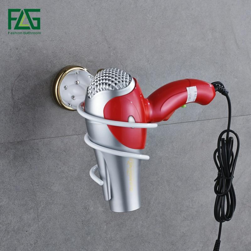 Heimwerker Schlussverkauf Bequem Wand Montiert Haar Trockner Veranstalter Spirale Ständer Halter Rack Aluminium Bad Regal Lagerung